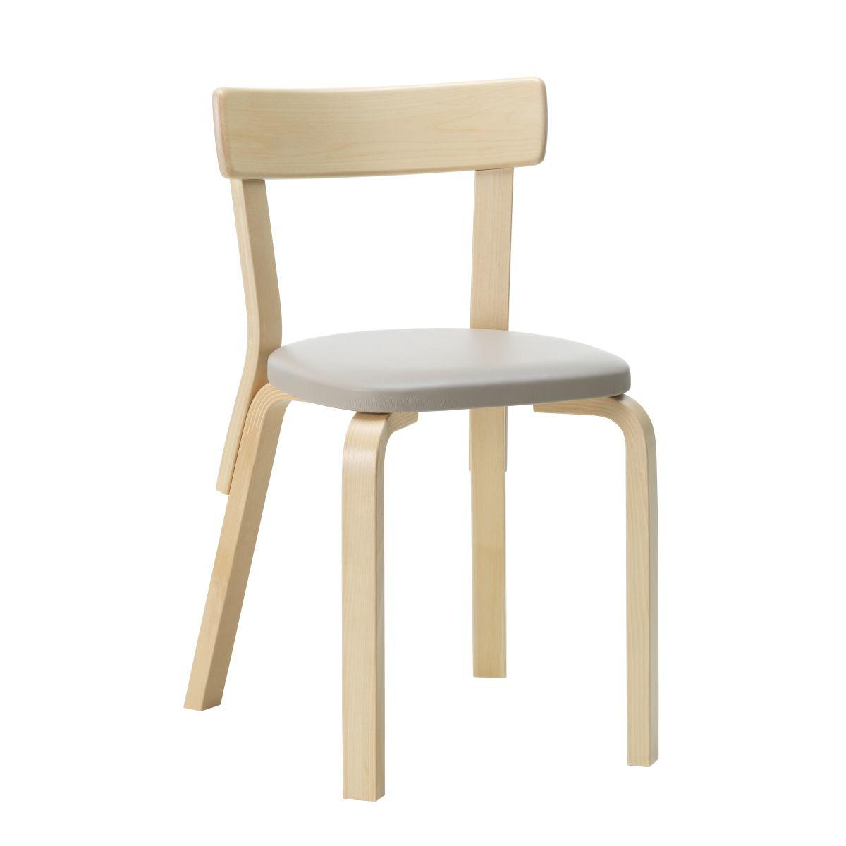 Chair 69 natural/ upholstery Sörensen Prestige beige_F