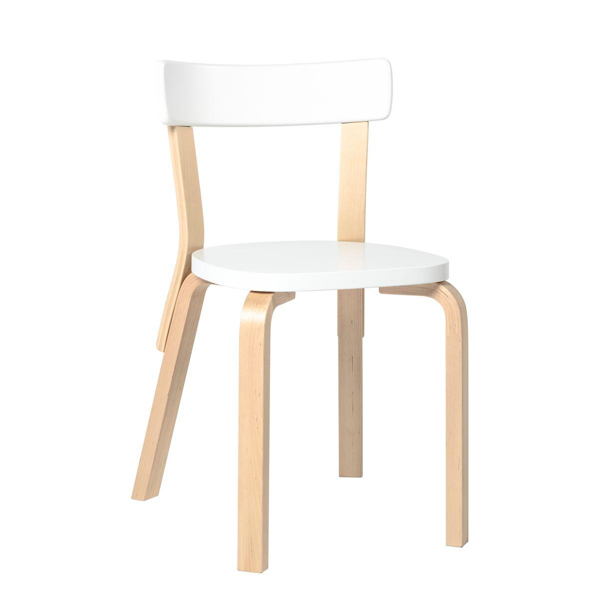 Chair 69 blawhite lacquer seat