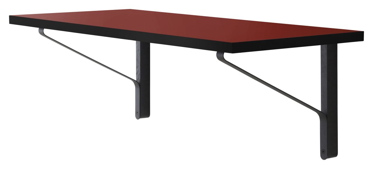 Kaari Wall Console REB006 black oak red Linoleum
