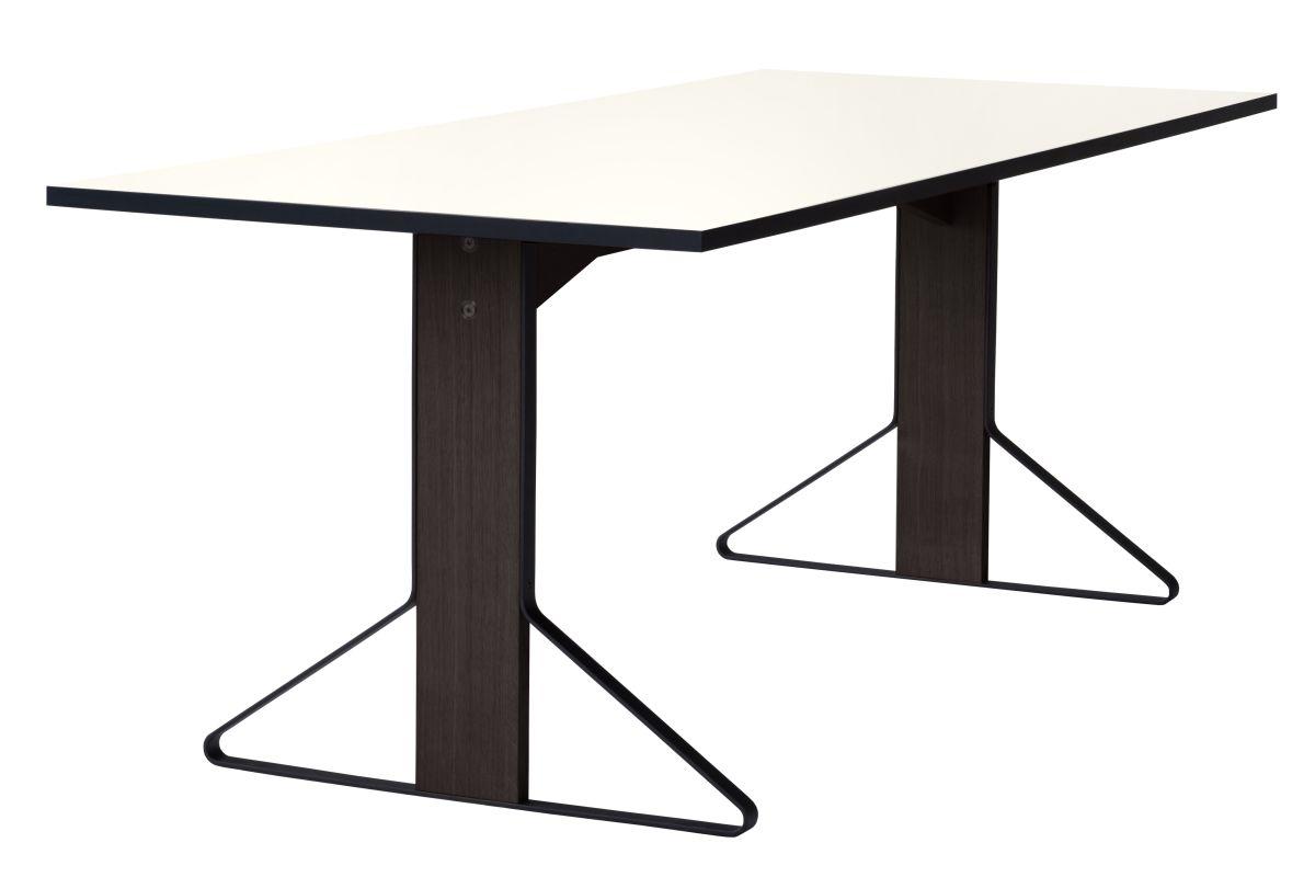 Kaari Table rectangular REB001 black oak white HPL