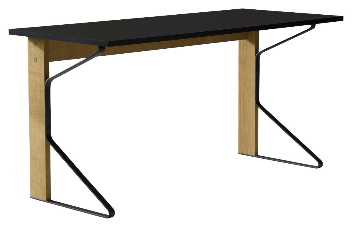 Kaari Desk REB005 natural oak black HPL