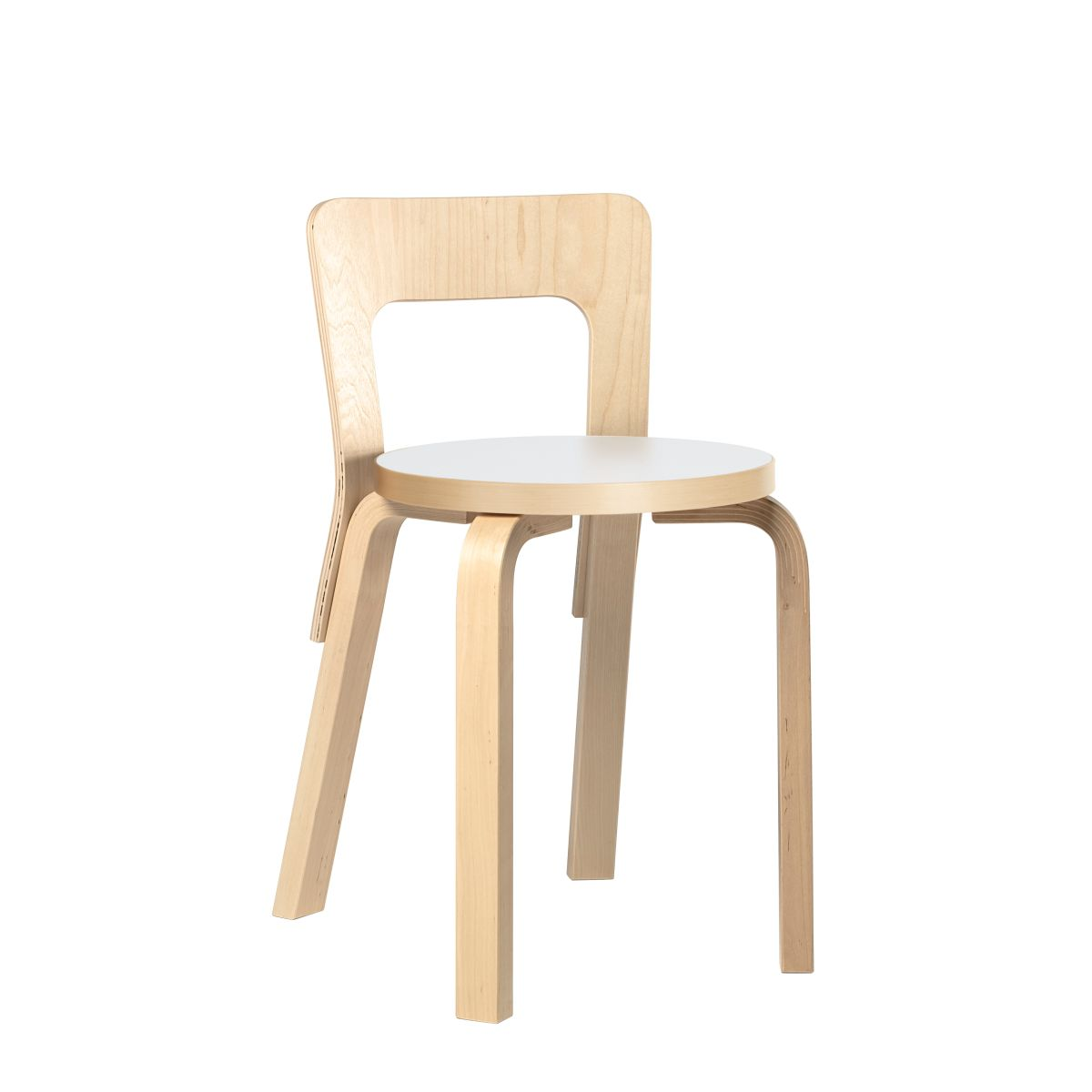 Chair 65 legs birch_Top white HPL