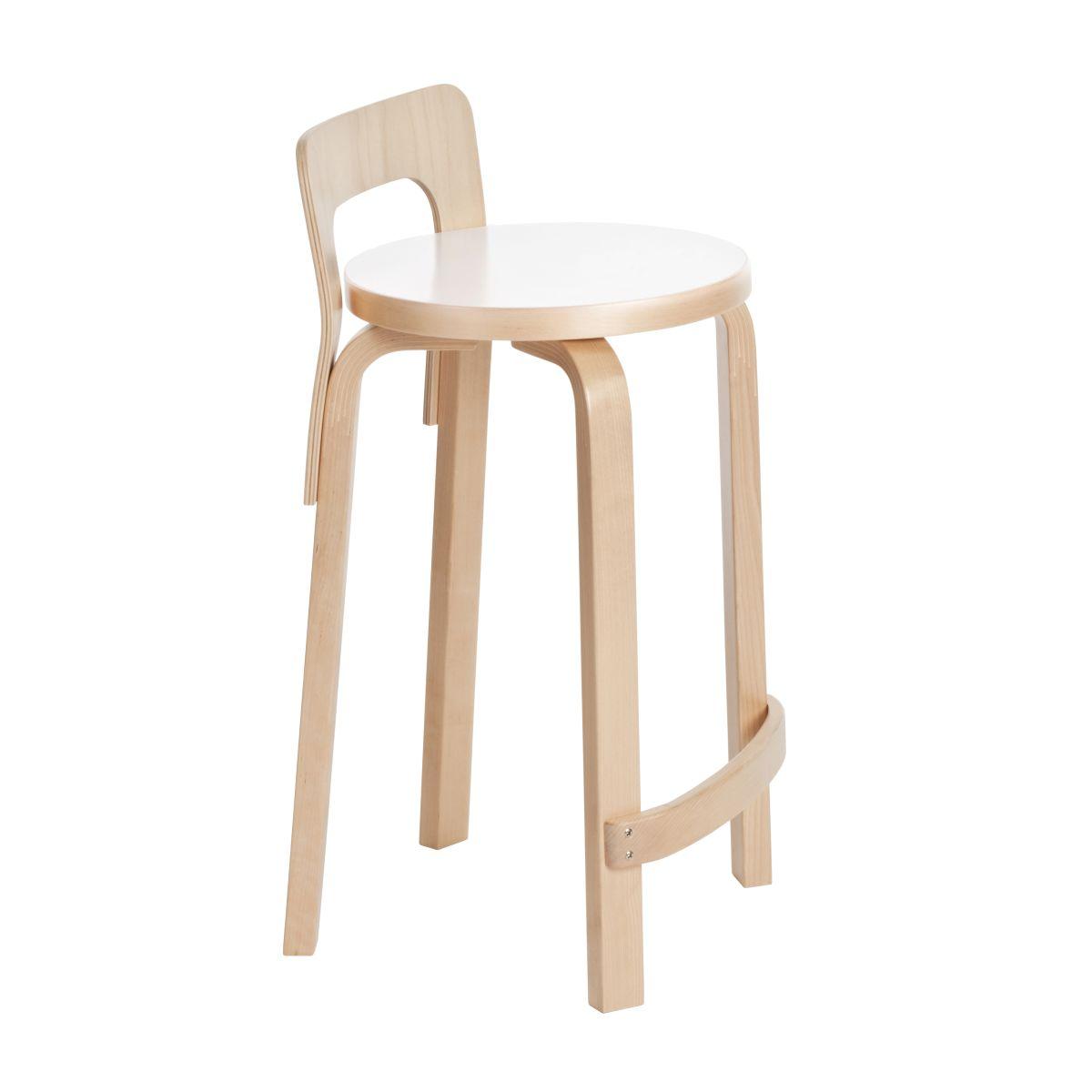 High Chair K65 Legs Birch Seat White Hpl 2463575