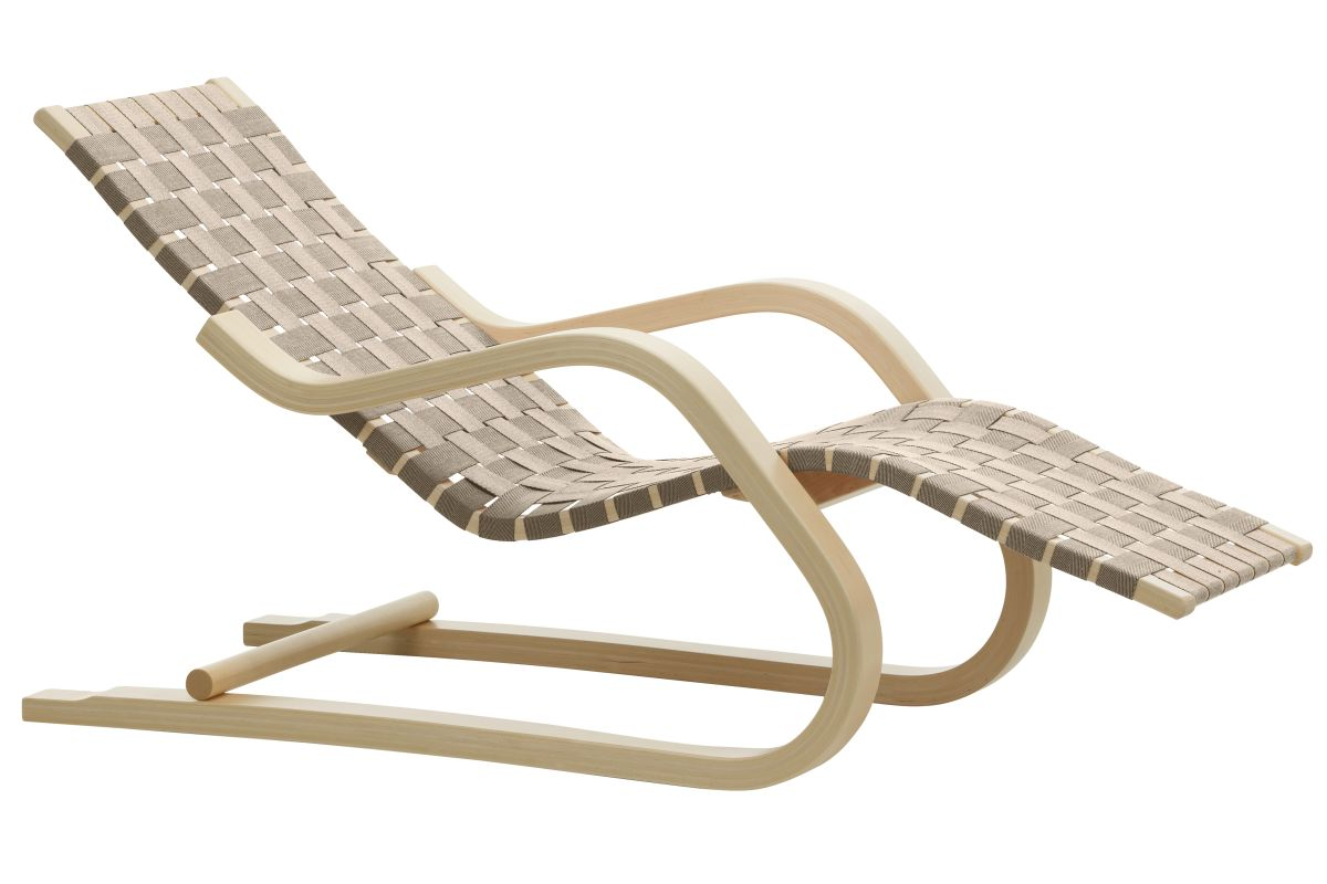 Lounge Chair 43 natural, natural/black webbing_F