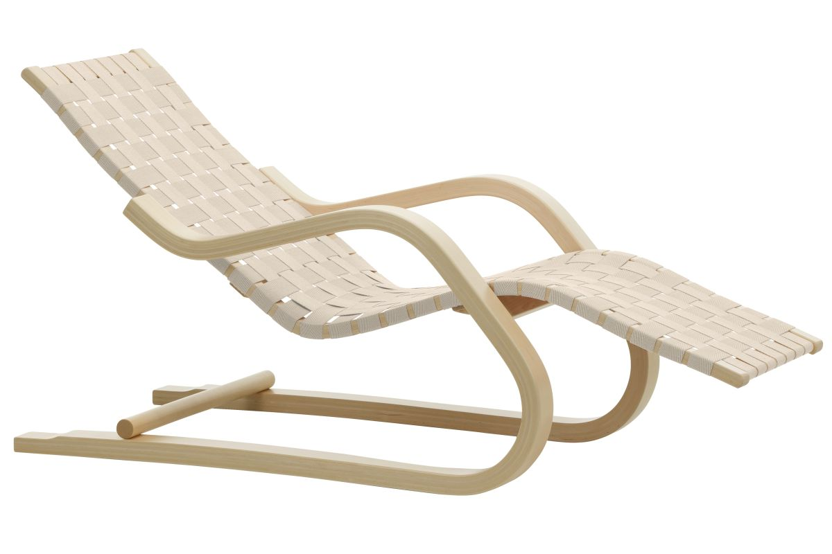 Lounge Chair 43 natural, natural/white webbing_F