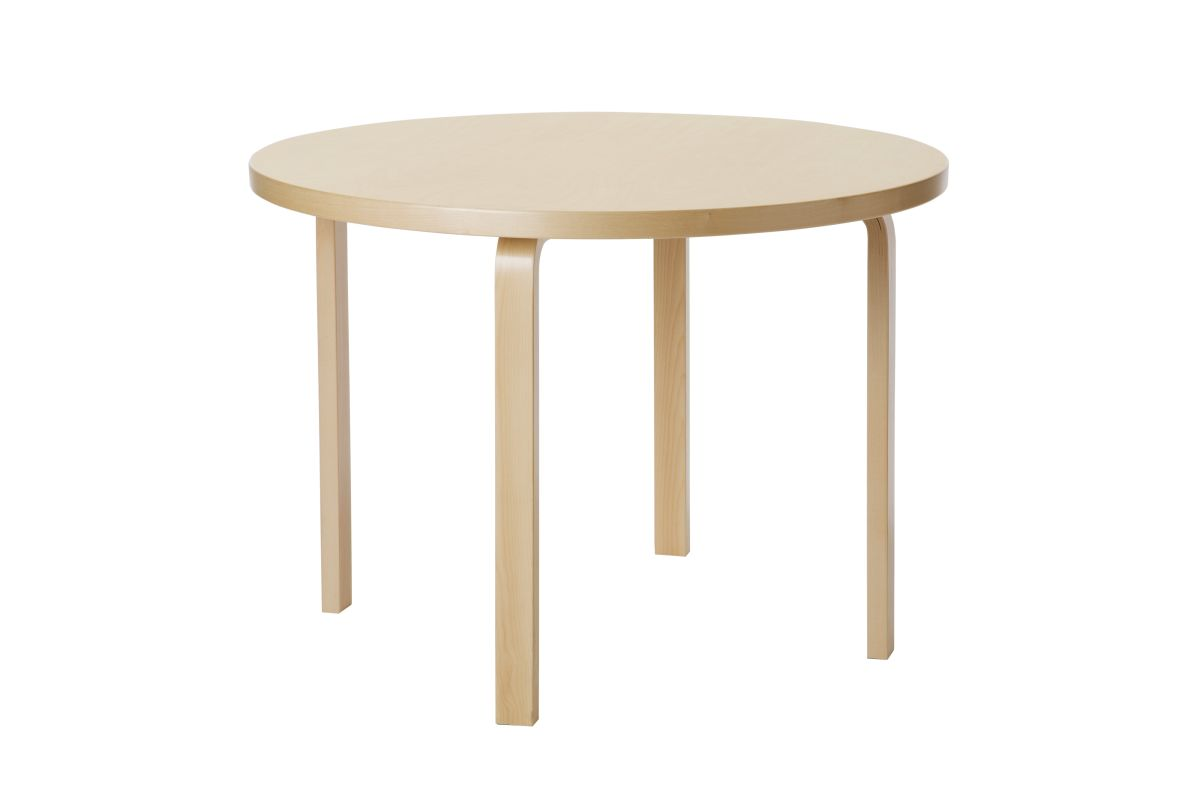Aalto Table round 90A birch