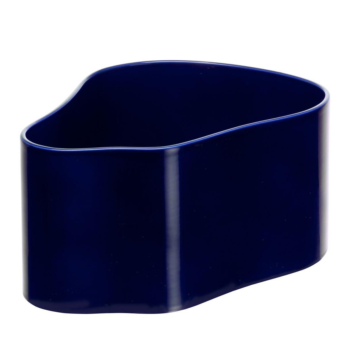 Plant pot shape A, size L, Blue gloss_F