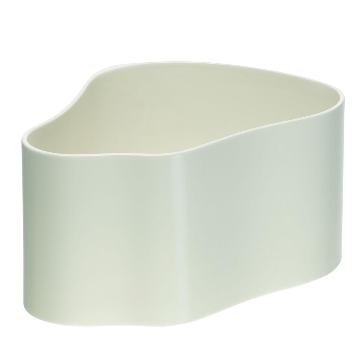 Plant pot shape A, size L, White gloss_F
