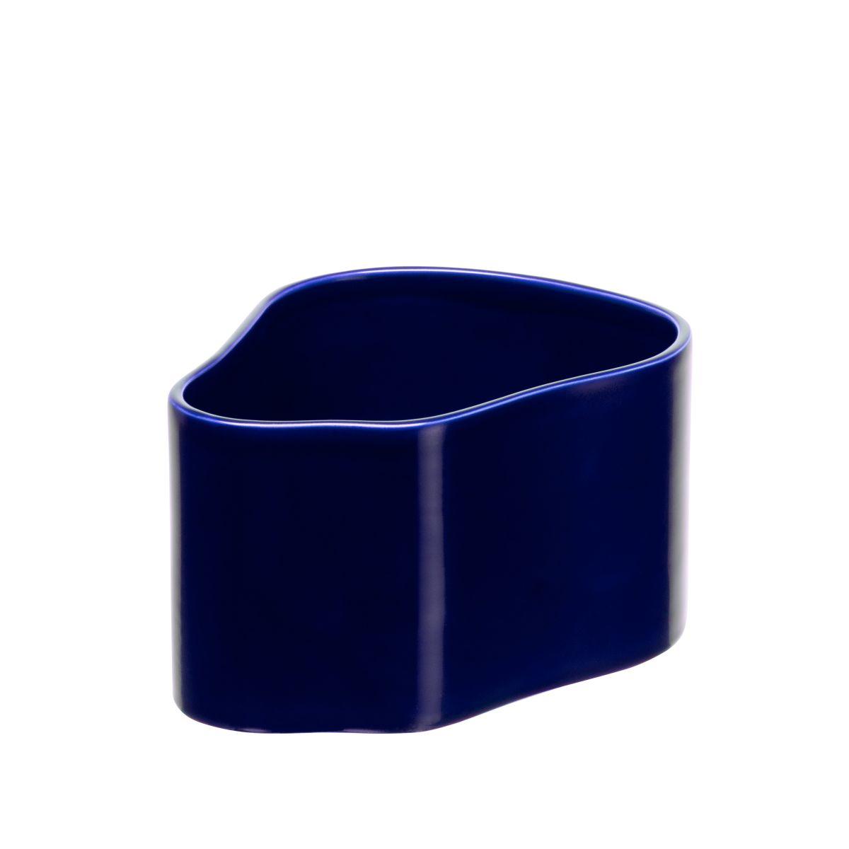 Plant pot shape A, size S, Blue gloss_F