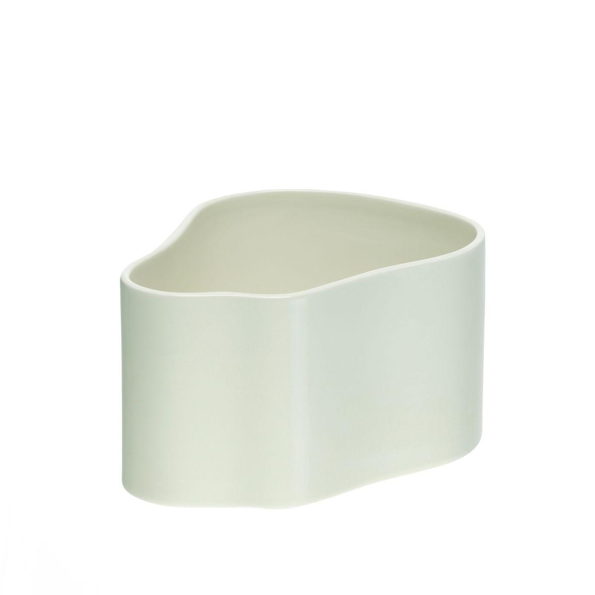 Plant pot shape A, size S, White gloss_F