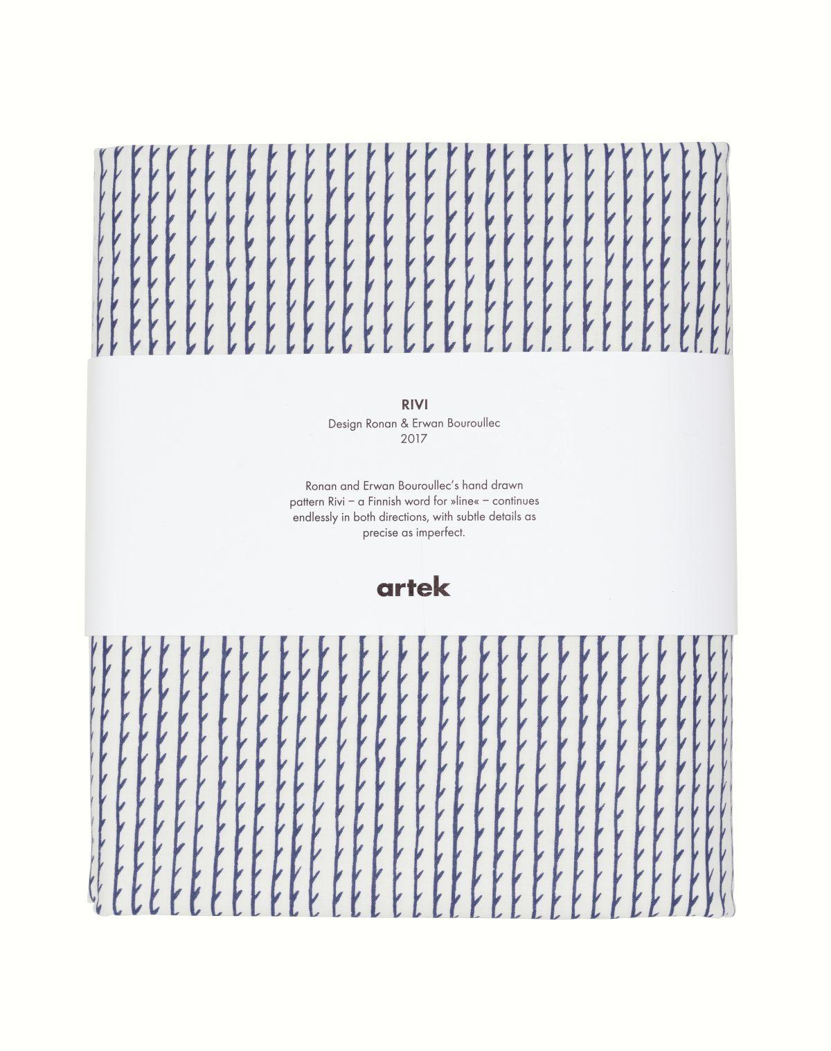 Rivi Fabric pre-cut white_blue
