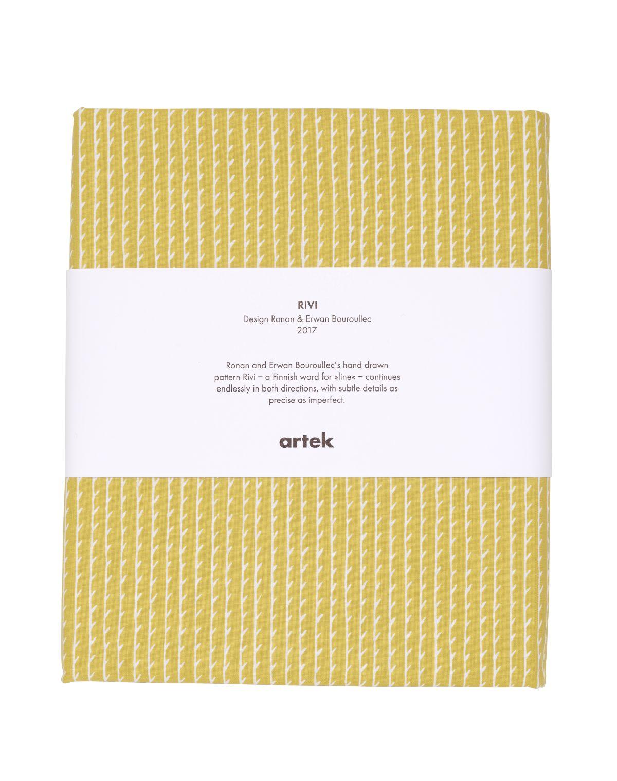 Rivi Fabric pre-cut yellow_white