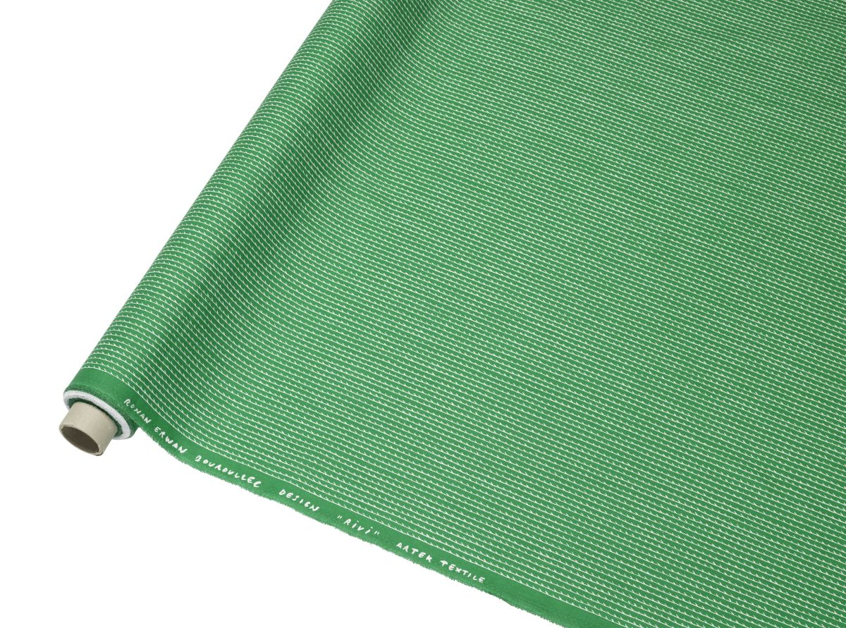 Rivi Fabric roll green / white_F