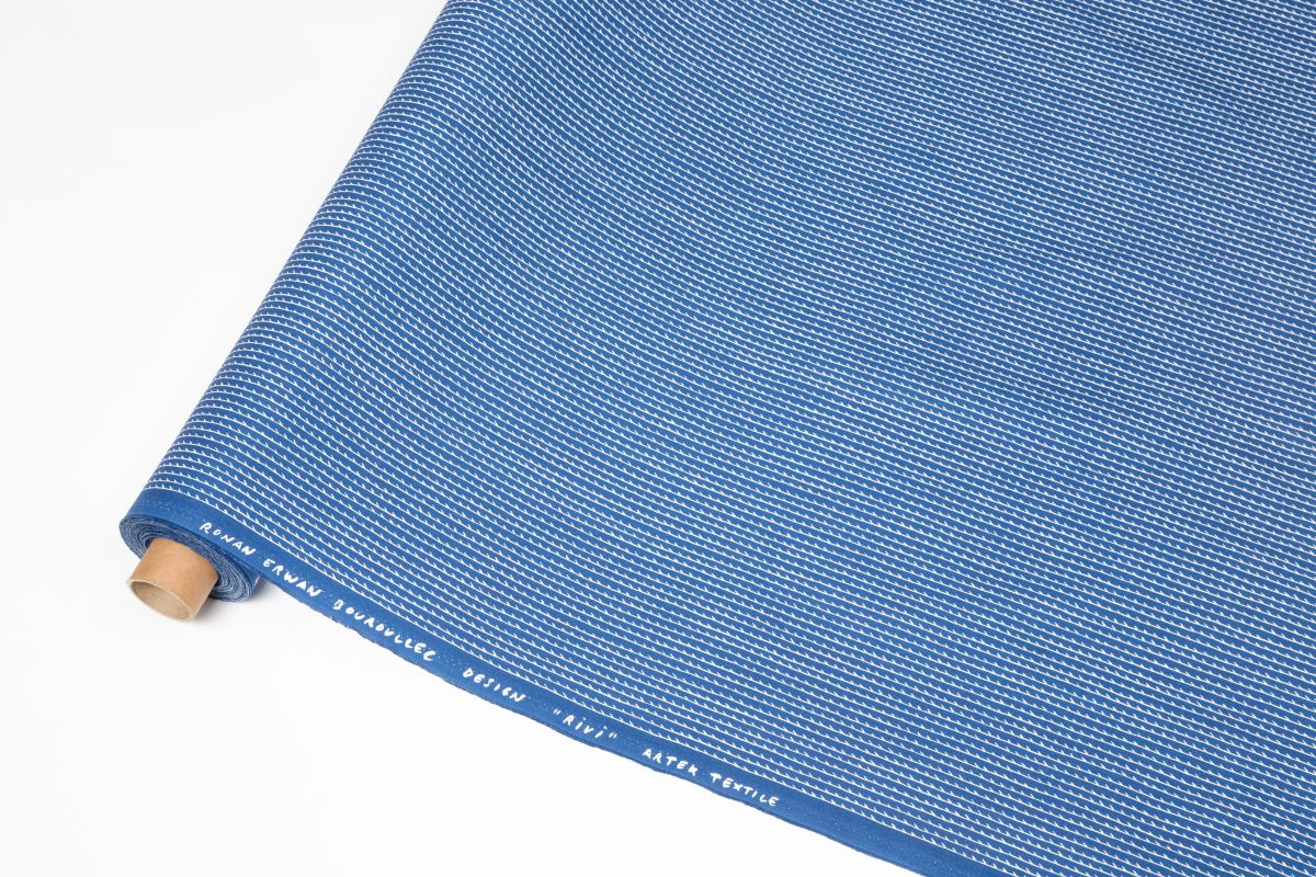 Rivi Fabric roll blue / white