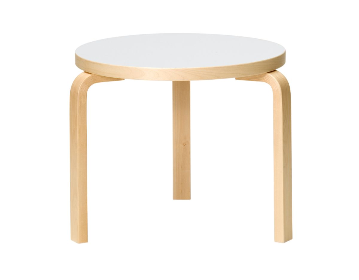 Table 90D Legs Birch Top White Hpl 2494533