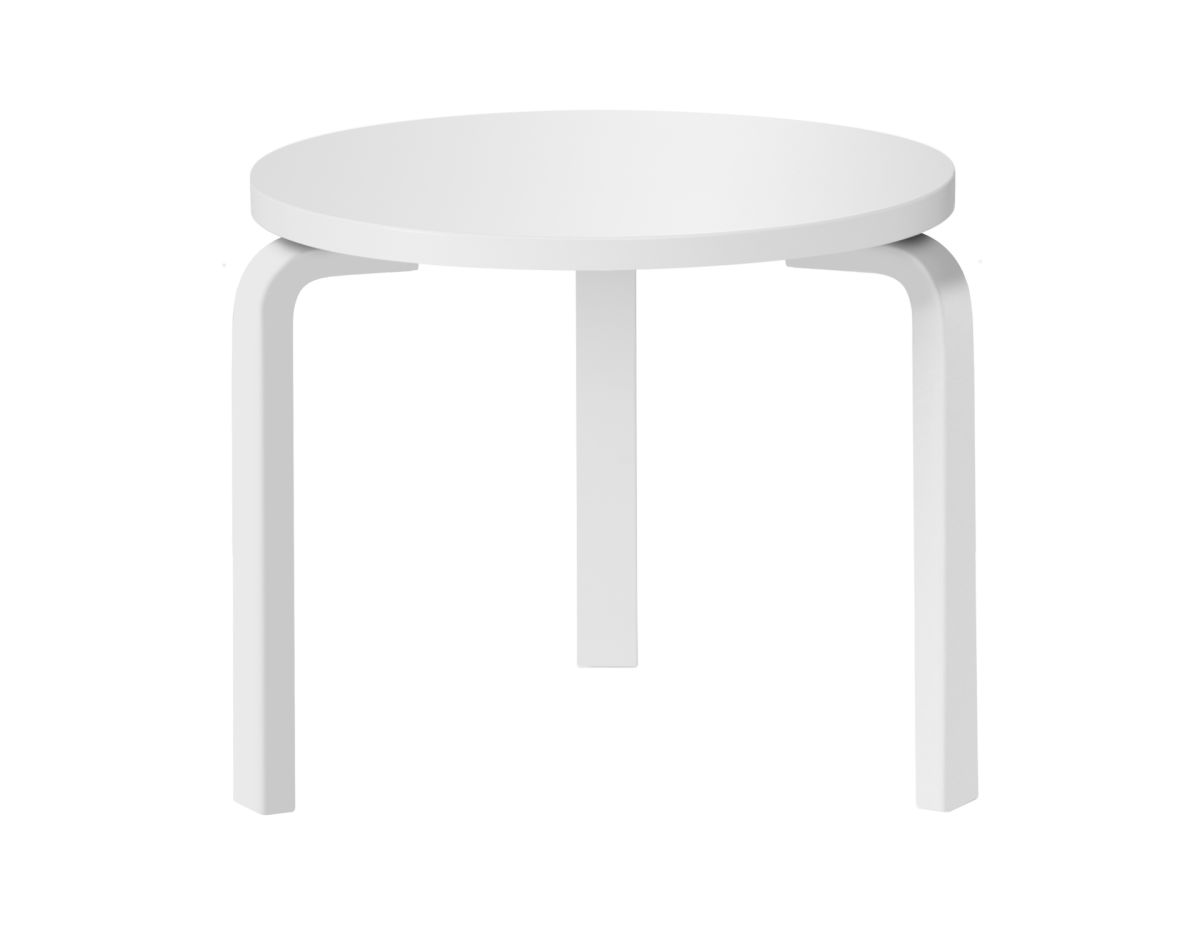 Table 90D_legs white laquered_top white HPL
