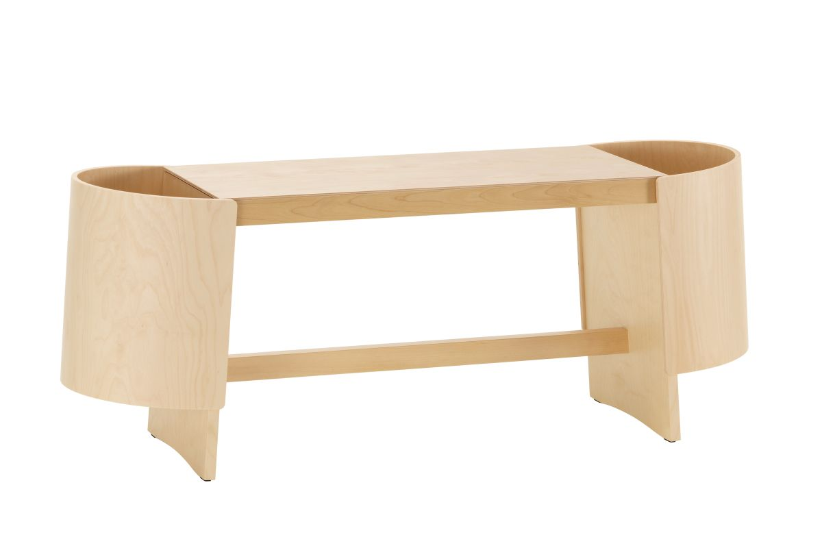 Kiulu Bench A, natural lacquered_F