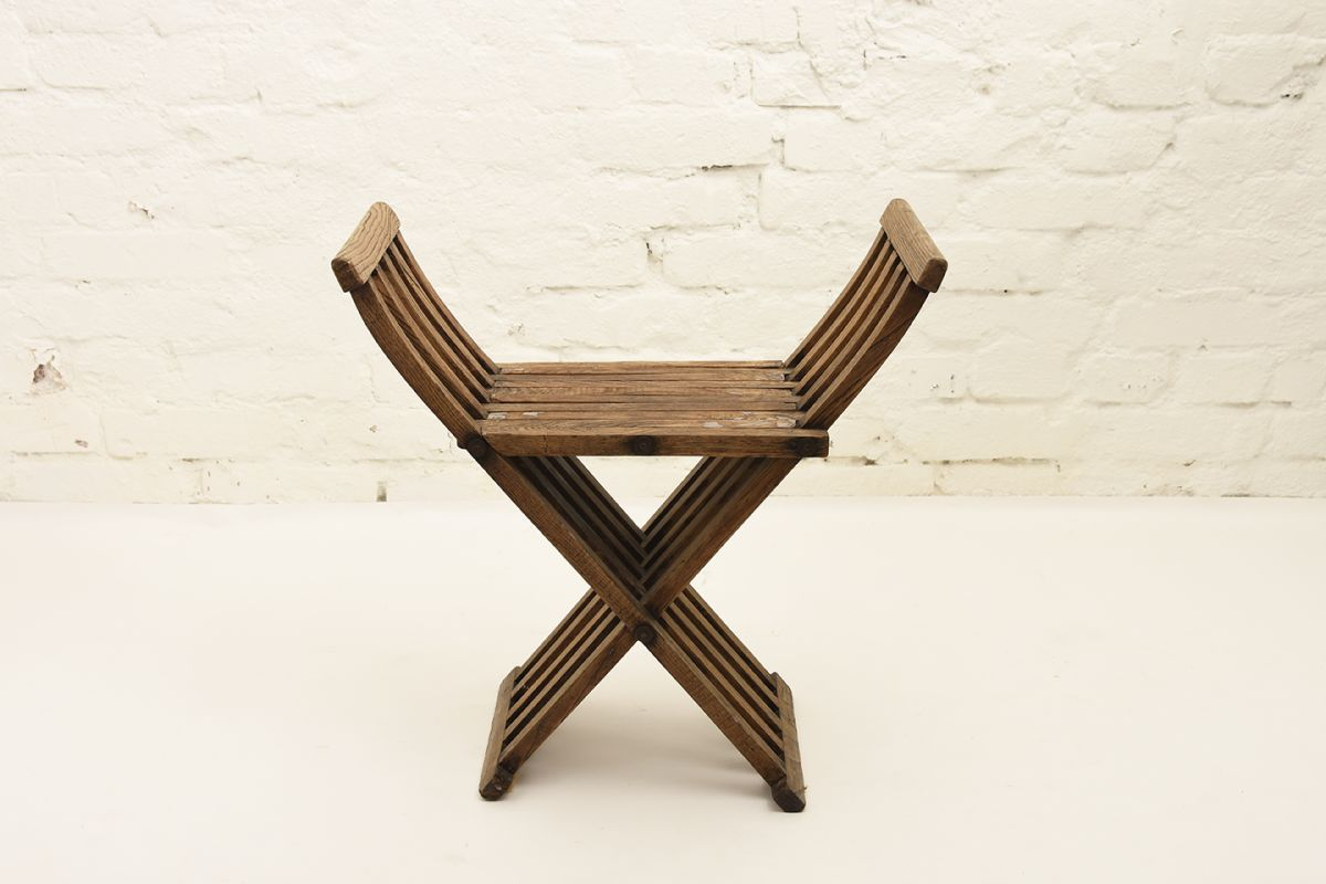 Anonymous-Wooden-Foldable-Stool