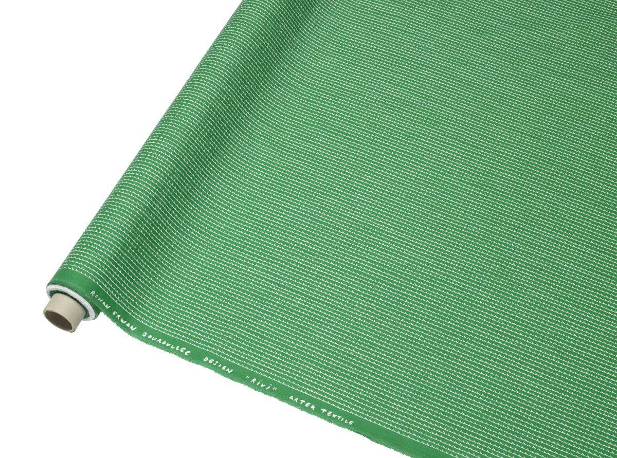 Rivi Fabric roll green / white_F