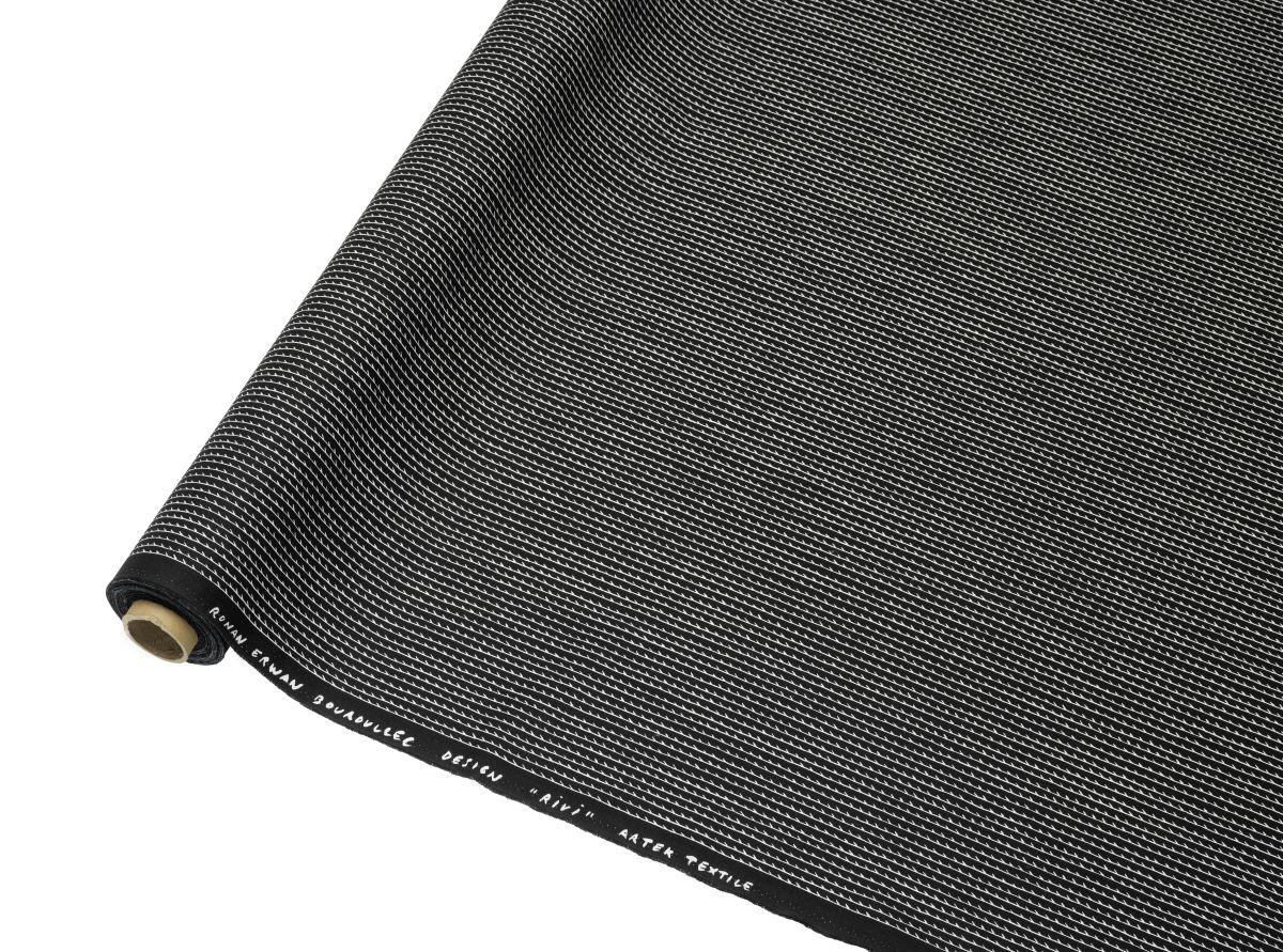 Rivi Fabric roll black / white_F