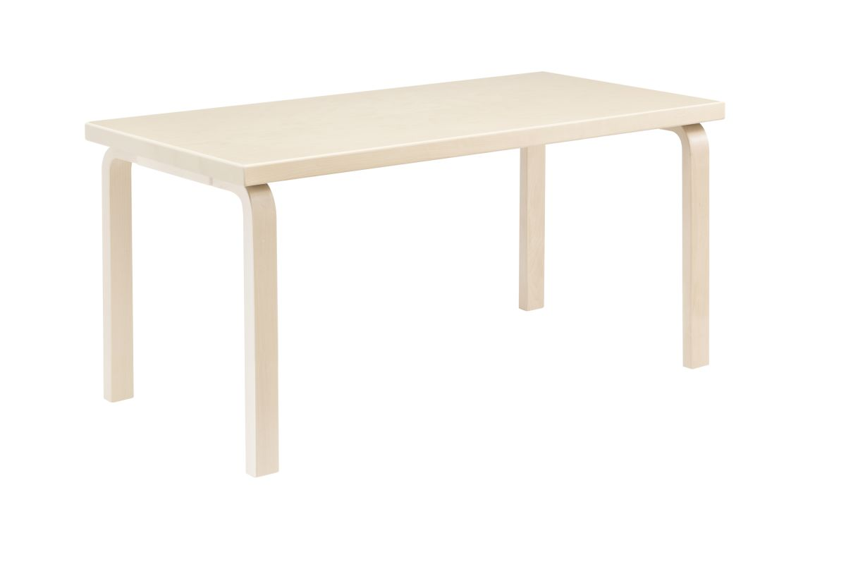 Aalto Children's Table rectangular 80A legs and edge band birch top birch