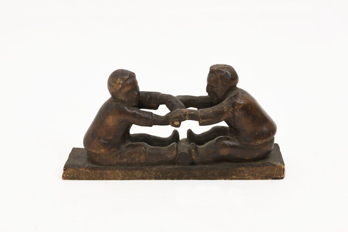 Anonymous-Wooden-Sculpture-Two-Men