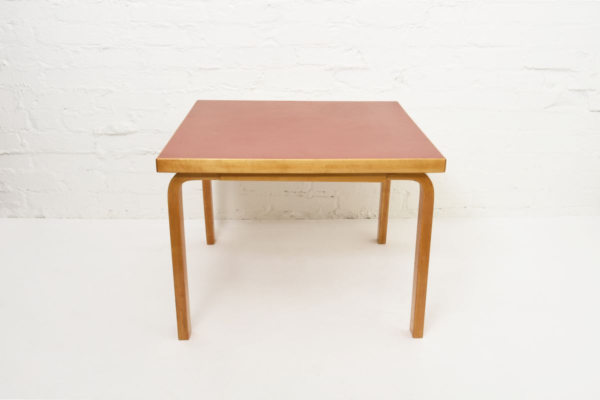 Aalto-Alvar-Coffee-Table-Red-Linoleum
