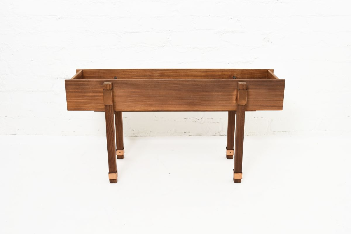 Anonymous-Finnish-Teak-Copper-Flower-Stand