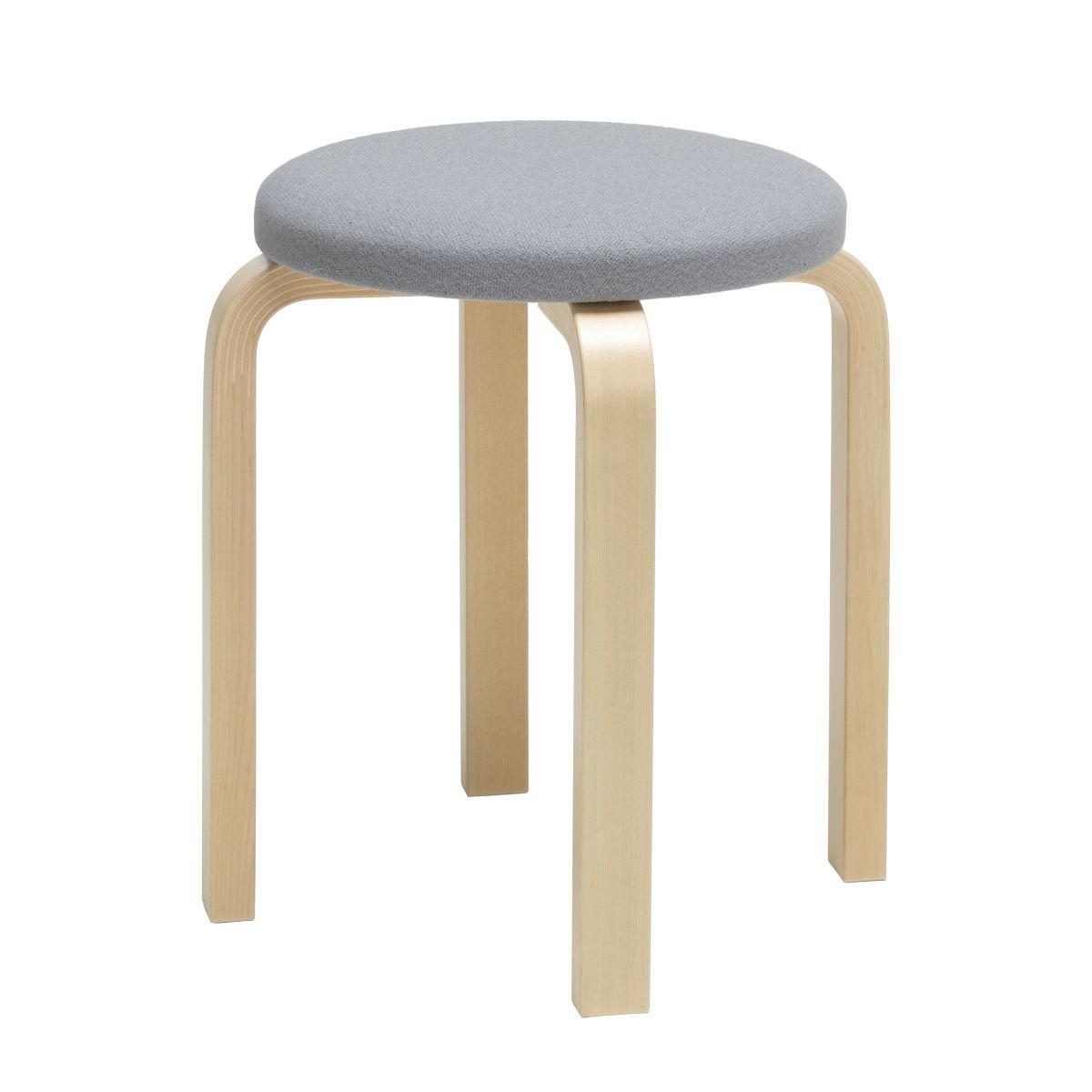 Stool E60 natural/ upholstery Kvadrat Tonus 216_F