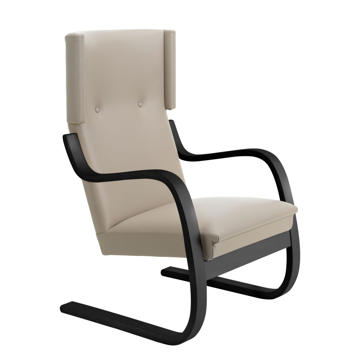 Armchair-401-birch-black-laquer_seat-upholstery-Sörensen-Prestige-beige_F-2912662