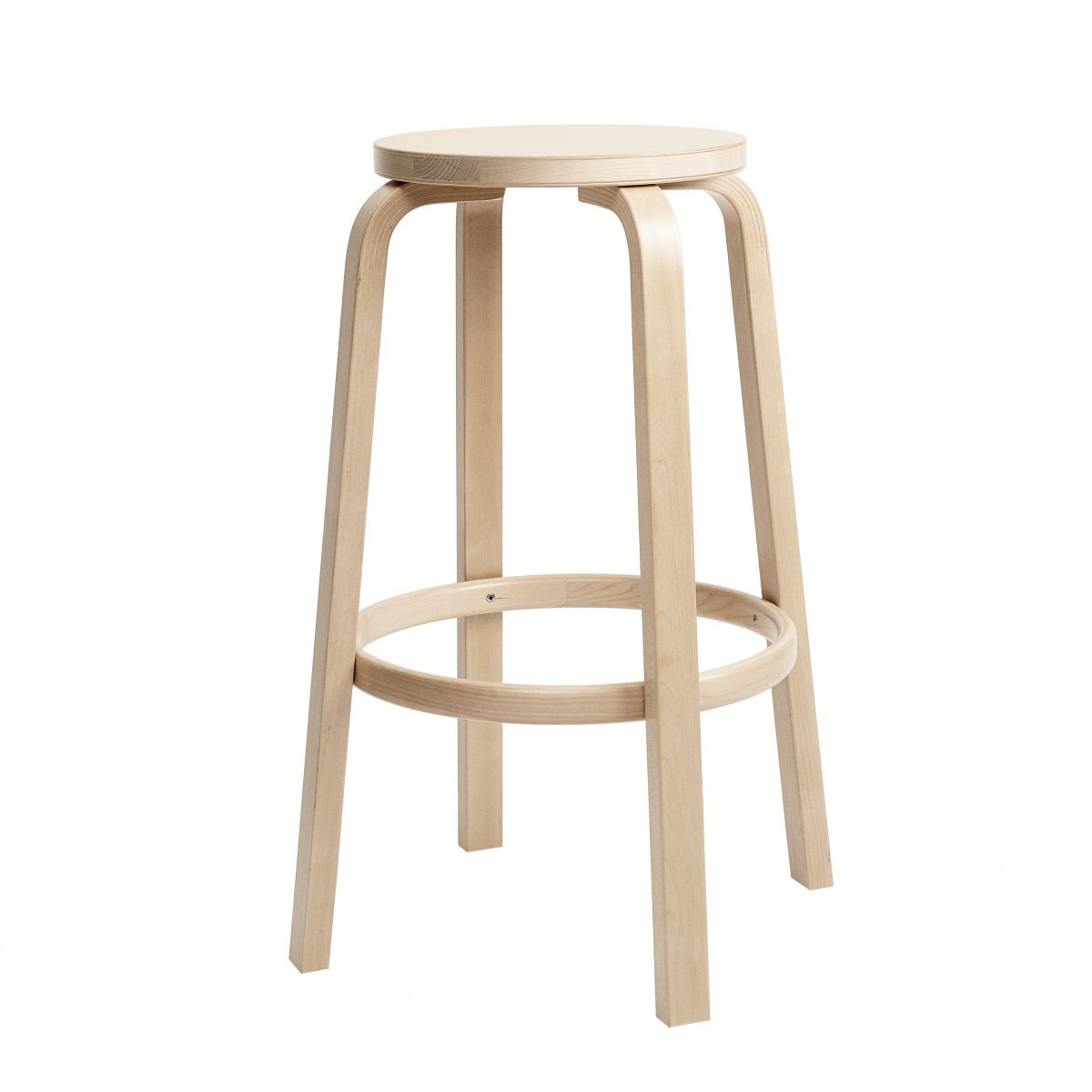 Bar Stool 64 75cm clear lacquered