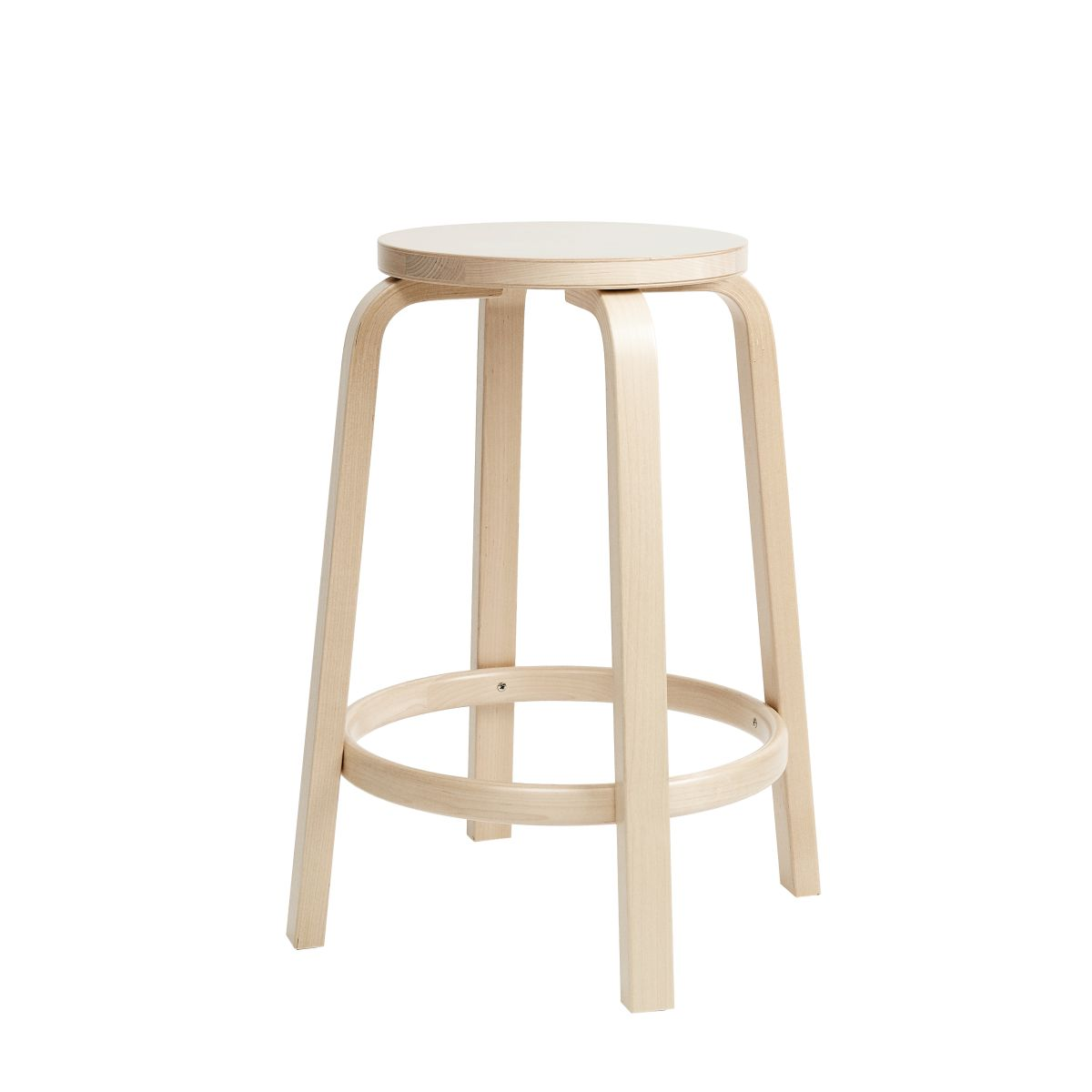 Bar Stool 64 65cm clear lacquer