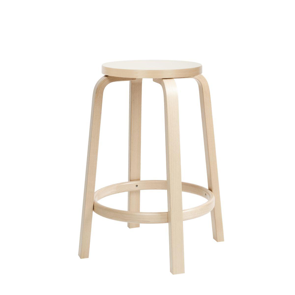 Bar Stool 64 65cm legs birch_top white HPL_sRGB