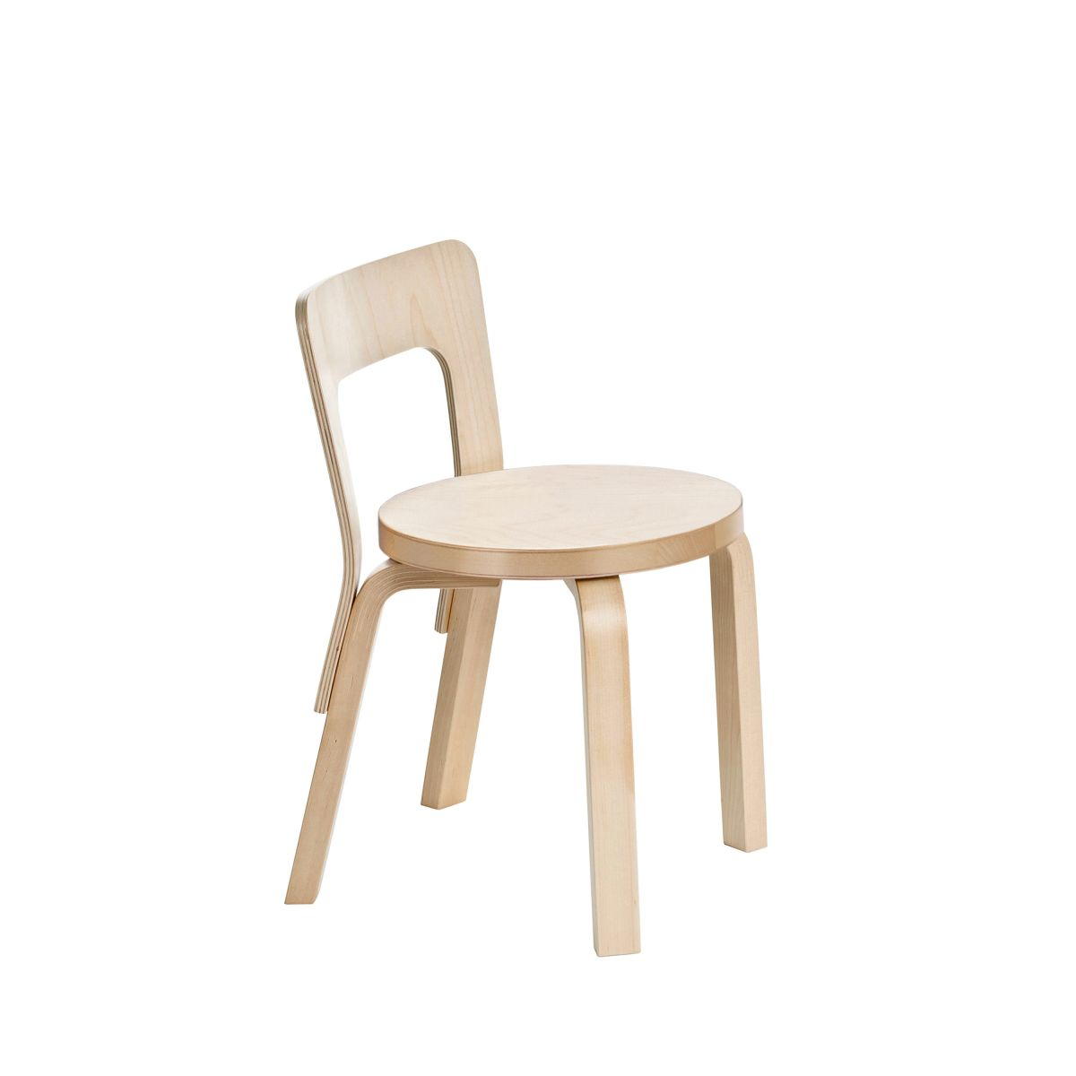 Childrens Chair N65 Legs Birch Seat Birch 2463532