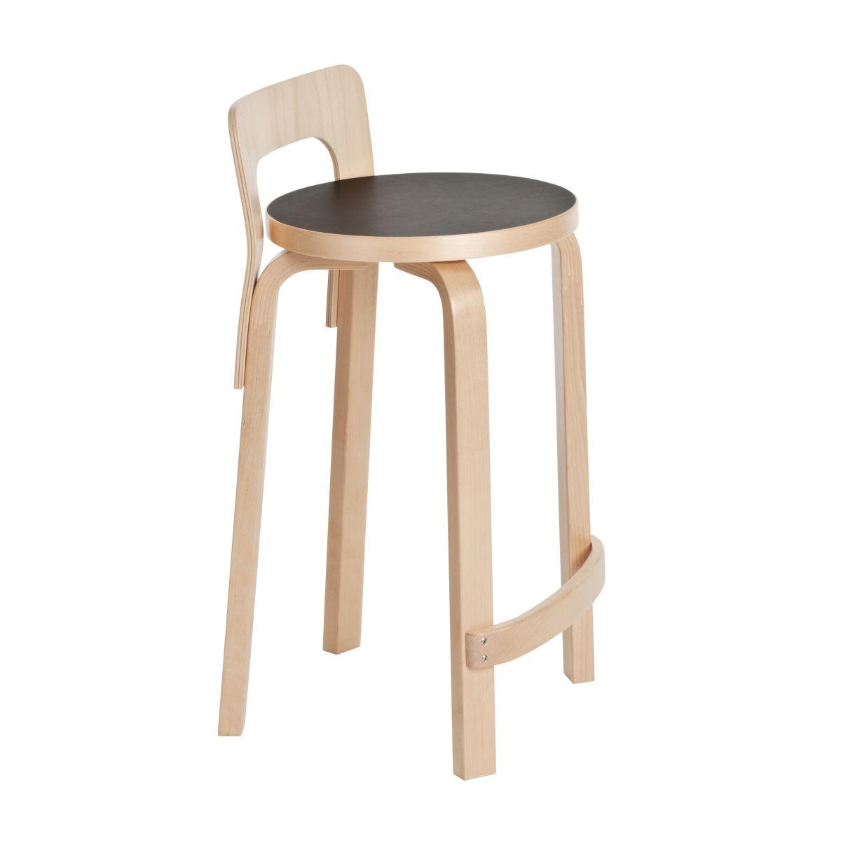 High-Chair-K65-Black-Linoleum