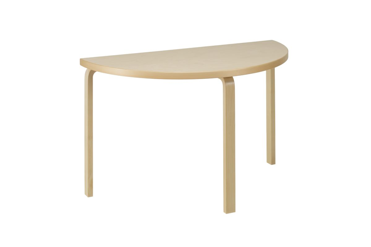 Aalto Table half-round 95 birch veneer_F