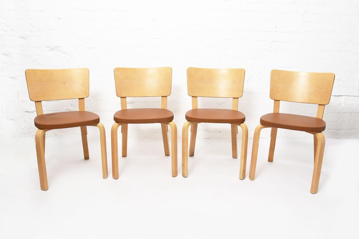 Aalto-Alvar-Chair63-Plywood-Brown-Leather_set