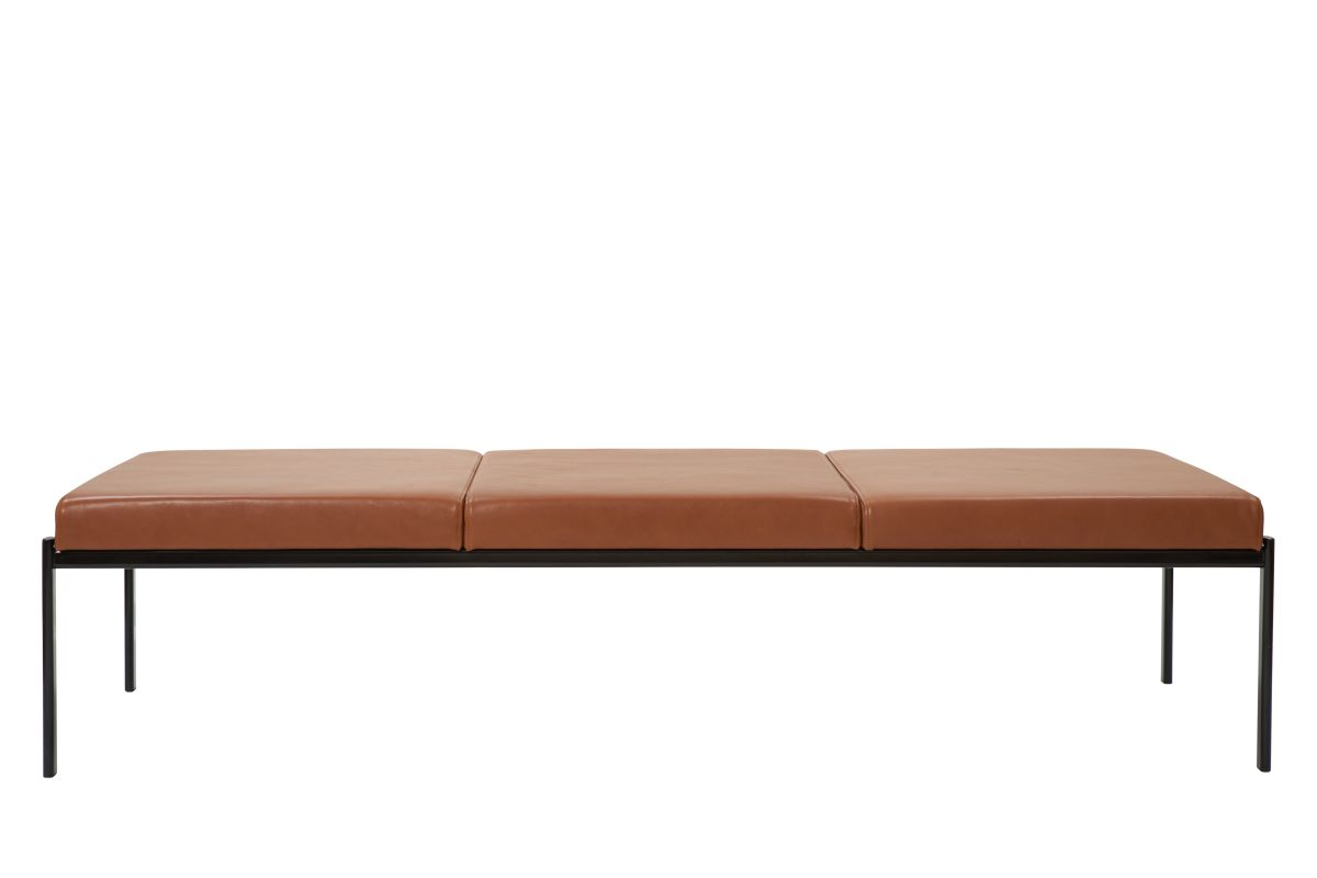 Kiki Bench 3-Seater leather_sorensen_walnut