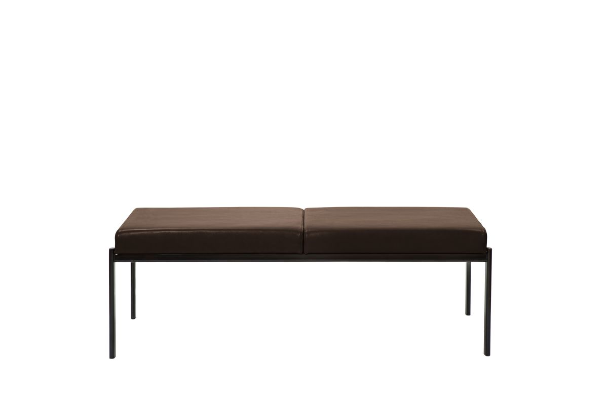 Kiki Bench -Seater Seat leather upholstery mocca