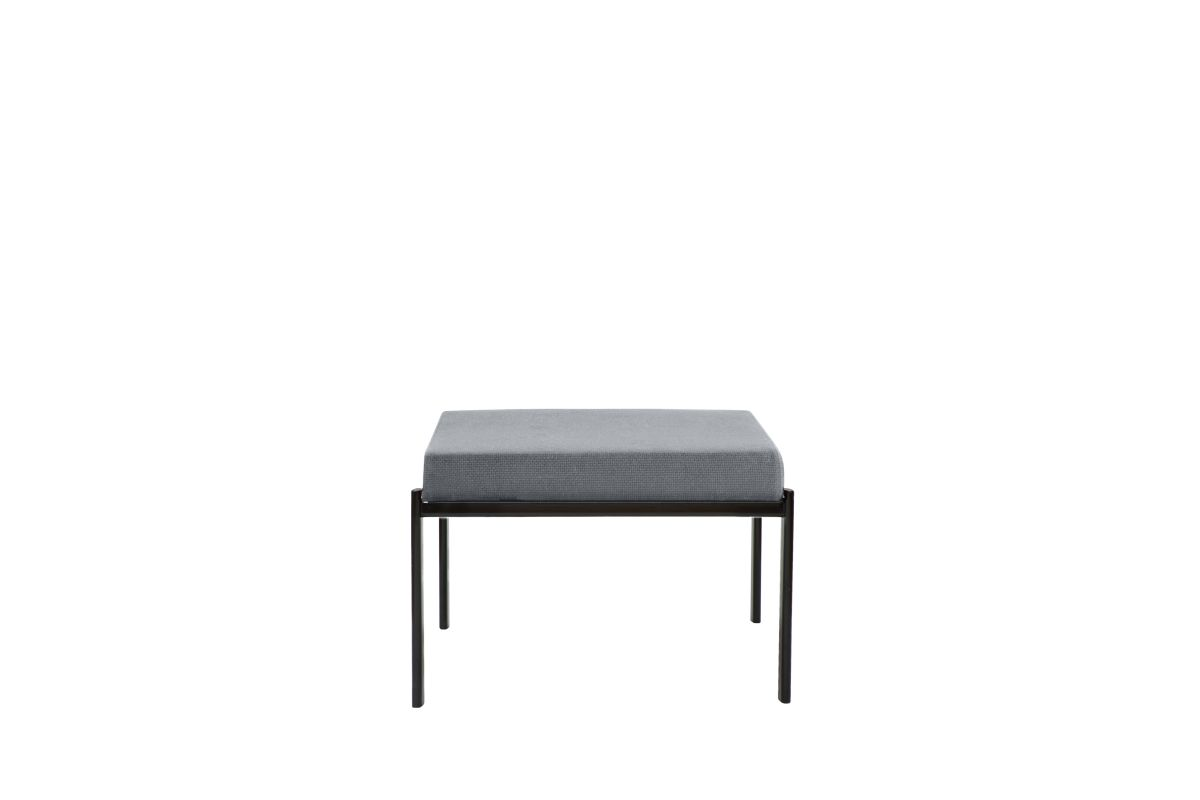 Kiki Bench 1-Seater Seat Fabric upholstery Artek grey