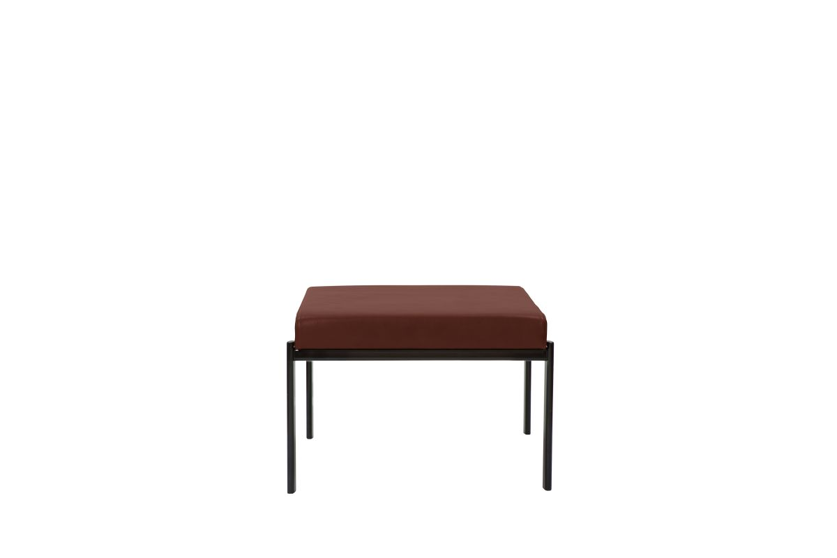 Kiki Bench 1-Seater Seat leather upholstery indian red