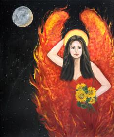 Angel In Red Dress