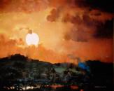 Moonrise over Atzompa