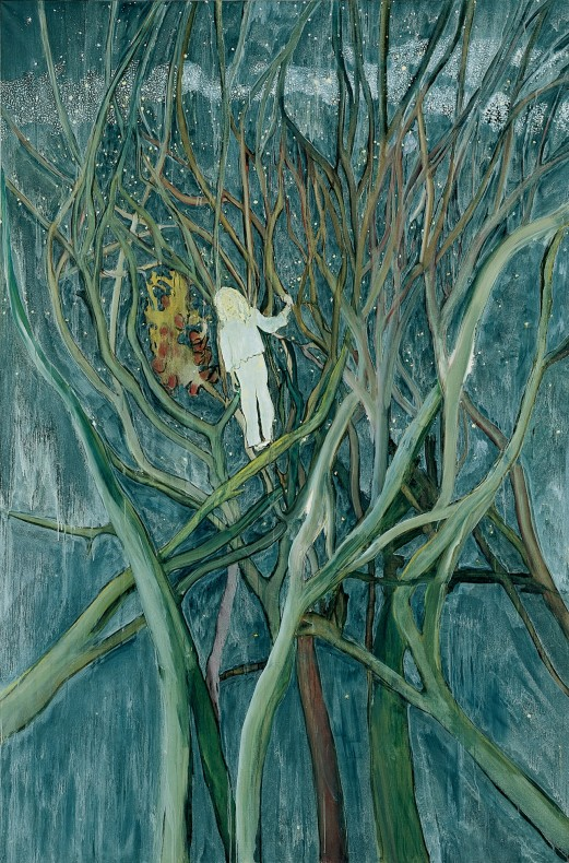 <div class=&#34;title_year&#34;>Girl in White with Trees, 2001-2002</div><div class=&#34;medium_dimensions&#34;>Oil on canvas, 300 x 200 cm