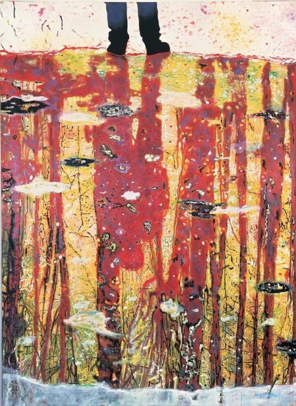 <div class=&#34;title_year&#34;>Reflection ( What does you soul look like), 1996</div><div class=&#34;medium_dimensions&#34;>Oil on canvas, 295 x 200 cms116 x 79 in</div>
