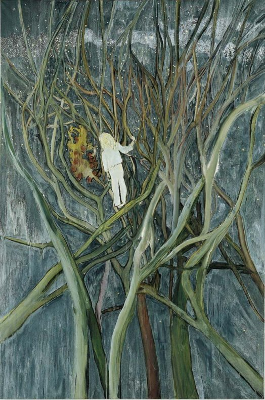 <div class=&#34;title_year&#34;>Girl in White with Trees, 2001/2002</div><div class=&#34;medium_dimensions&#34;>oil on canvas, 300 x 200 cm118 1/8 x 78 3/4 in</div>