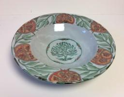 <em>Andrew Hazelden: Flanged Bowl with pomegranite design</em>