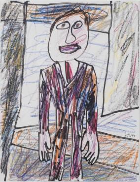 <span class=&#34;artist&#34;><strong>Jean Dubuffet</strong></span>, <span class=&#34;title&#34;><em>Promeneur en ville</em>, 14 September 1974</span>