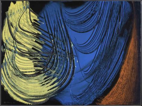 <span class=&#34;artist&#34;><strong>Hans Hartung</strong></span>, <span class=&#34;title&#34;><em>T 1971-E43</em>, 1971</span>