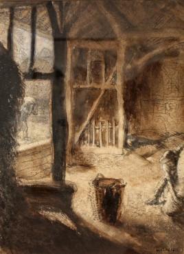 <span class=&#34;artist&#34;><strong>Sir George Clausen</strong></span>, <span class=&#34;title&#34;><em>The Barn</em></span>